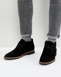 New Look Faux Suede Desert Boots In Black Black