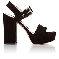 Gianvito Rossi Women's Gina Platform Sandals Dark Brown