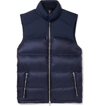Orlebar Brown Issac Quilted Nylon Blend Down Gilet Blue