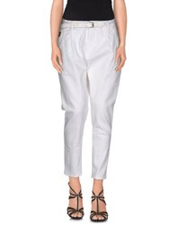 Met And Friends Denim Denim Trousers Women White