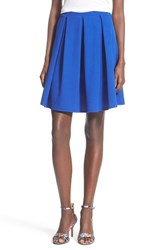 Junior Women's Painted Threads Pleated A Line Skirt Royal