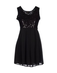 Duck Farm Short Dresses Black