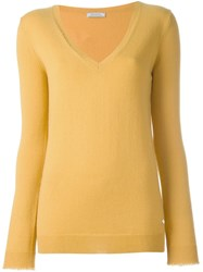 Nina Ricci V Neck Pullover Yellow And Orange