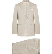 Hugo Boss Beige Hutson Gander Slim Fit Stretch Cotton Suit Beige