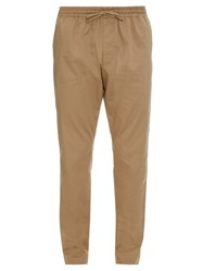 Tomas Maier Drawstring Straight Leg Cotton Blend Trousers