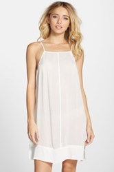 Free People Sheila's Side By Side Chemise White