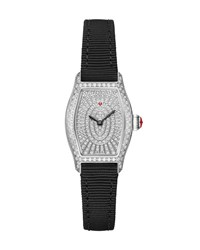 Michele Croquette Diamond Pave Watch Black Silver