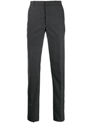 Alexander Mcqueen Pinstripe Tailored Trousers Grey