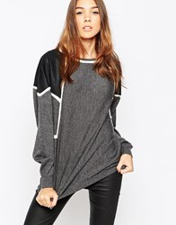 Gestuz Jumper With Contrast Shoulders Black
