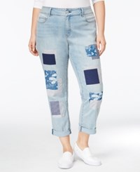 American Rag Trendy Plus Size Nola Wash Girlfriend Jeans Only At Macy's