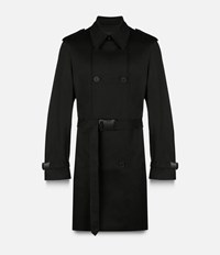 Christopher Kane Safety Buckle Trench Coat Black