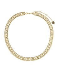 Laundry By Shelli Segal Watch Band Link Collar Necklace Gold