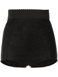 Dolce And Gabbana High Rise Lace Shorts Black