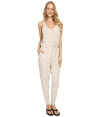 Lole Tamara Romper Silver Gray Footprint Women's Jumpsuit And Rompers One Piece White