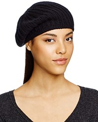C By Bloomingdale's Cashmere Ribbed Beret Black