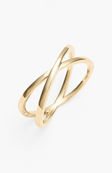 Bony Levy Crossover Open Ring Nordstrom Exclusive Yellow Gold