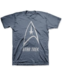 Jem Men's Star Trek Delta Shield Graphic Print T Shirt Navy Heather