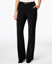 Charter Club Belted Trousers Only At Macy's Deep Black