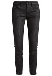 G Star Gstar 5620 3D Custom Ankle Zip Mid Skinny Slim Fit Jeans Distro Black Superstretch Black Denim