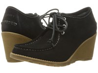 Sperry Stella Keel Black Women's Wedge Shoes
