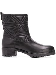 Emporio Armani Quilted Ankle Boots Black