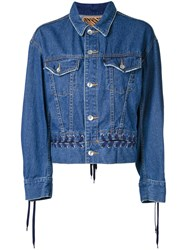 G.V.G.V. Denim Lace Up Jacket Blue