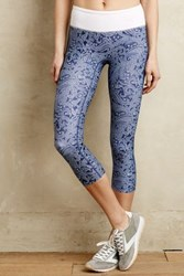 Anthropologie Paisley Capri Leggings Blue Motif