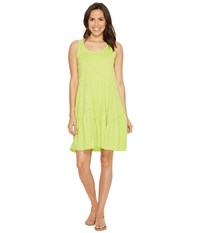 Mod O Doc Slub Jersey Tank Dress With Shirred Asymmetrical Seam Lime Women's Dress Green