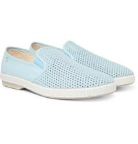 Rivieras Cotton Mesh And Canvas Espadrilles Light Blue