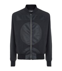 Mcq By Alexander Mcqueen Crepe Geometric Bomber Jacket Male Black