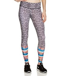 Onzie Geometric Graphic Leggings Tribal Effect
