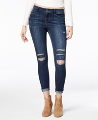 American Rag Juniors' Ripped Cuffed Skinny Ankle Jeans Created For Macy's Jerry