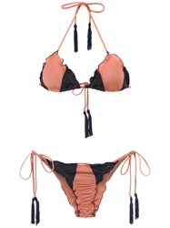 Brigitte Triangle Top Bikini Set Yellow And Orange