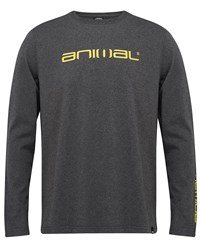 Animal Long Sleeve Tee Charcoal