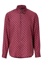 Marc By Marc Jacobs Cotton Silk Shirt In Cabernet Red