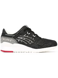 Asics 'Gel Lyte Iii Okayama' Denim Effect Sneakers Black