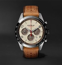 Montblanc Timewalker Limited Edition Chronograph 43Mm Stainless Steel Ceramic And Leather Watch Cream