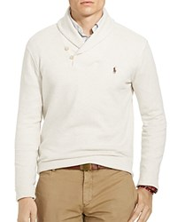 Polo Ralph Lauren Ribbed Cotton Shawl Collar Sweater Faded Cream