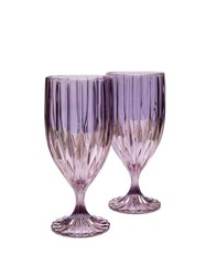 Luisa Beccaria Set Of Two Water Glasses Purple