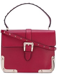 Red Valentino Studded Satchel Bag Red