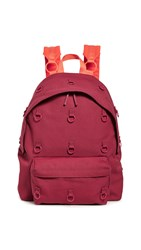 Eastpak Rs Padded Loop Backpack Burgundy Orange