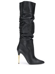 Tom Ford Ruched High Boots Black