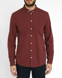 Minimum Bordeaux All Over Motif Rex Shirt Burgundy
