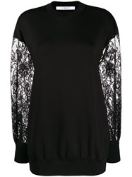 Givenchy Lace Sleeve Sweater Black