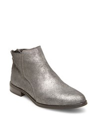 Design Lab Lord And Taylor Cory Suede Ankle Boots Pewter