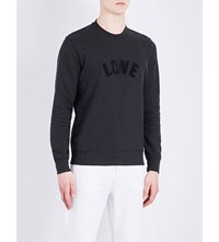 Sandro Love Cotton Sweatshirt Charcoal Grey