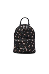 Givenchy Nano Pink Hibiscus Printed Nylon Backpack In Black Floral Black Floral