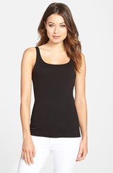 Women's Eileen Fisher Organic Cotton Tank Black