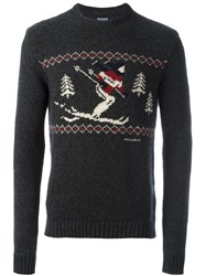 Woolrich Ski Intarsia Sweater Grey