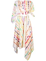 Rosie Assoulin Tie Dye Print Two Piece White